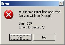 Error occurred